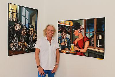 Volker Welz Künstler Flyer Kunstausstellung Kunst Essen Steele im Stadtgarten AK 4
