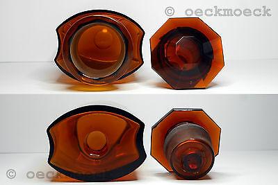 Altes Apotheken Standgefäß Braunglas Facettenschliff 2