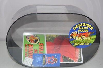 Zoo Med Betta forme ovale NANO Maison 2 gallon SIAMOIS COMBATS aquarium