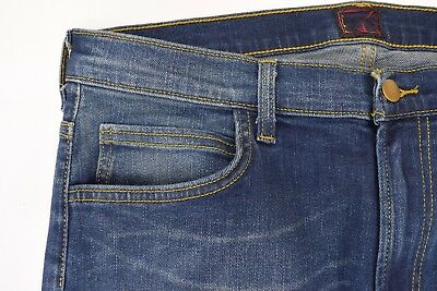 Mens Lee Rider Slim/Skinny Leg Stretch Jeans (SECONDS) 'Tinted Blue' RRP£90 L166 6