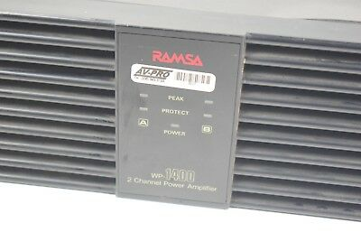 XLR 240 WPC Ramsa WP-1400 2 Channel  Pro Power Amplifier
