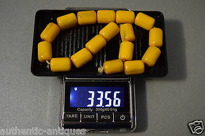 Vintage Turkish Islamic Bakelite Honey Yellow Catalin Amber Rosary Beads Damari 7