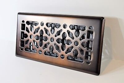"Decor-Grates-Floor-Register-Steel-Metal-Air-Vent-Scroll-Size-Inch 2""x12, 4x10in."