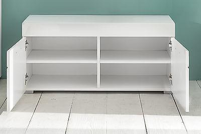 sitzbank wei hochglanz schuhbank amanda flur diele schuhschrank garderobe bank eur 123 99. Black Bedroom Furniture Sets. Home Design Ideas