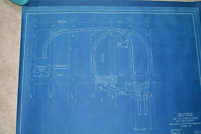 """EXTREMELY RARE MANHATTAN NYC 38TH STREET TUNNEL BLUEPRINT 1930 24.5"""" X 32.5"""" in 3"""