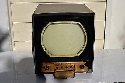 3 Of 8 Original 1950 ANTIQUE Television Admiral Bakelite Black TV Cabinet  Art Deco Prop