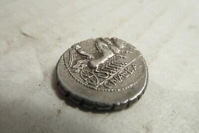 Roman Republic C. Naevius Balbus Silver Denarius SR.79 BC Serrate Venus Victory 4