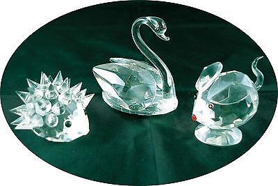 Set of 5 Crystal Glass Animals 3