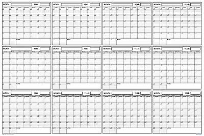 image regarding Blank Planner referred to as 24X36 Moist Dry Erase Blank Reusable Undated Once-a-year Annually Wall Calendar Planner