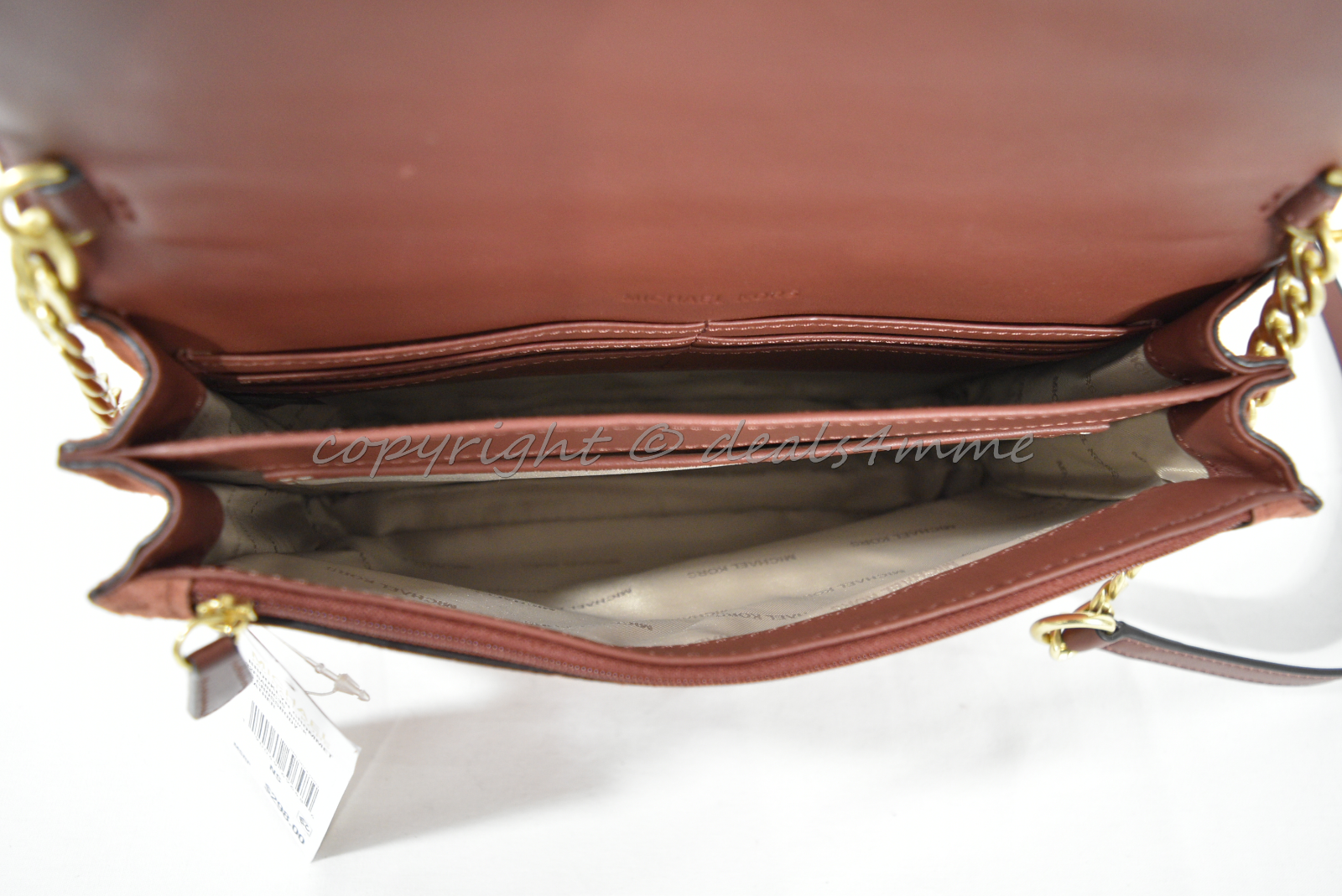 be74d268fe3e74 NWT Michael Kors Brooklyn Grommet Large Leather Suede Crossbody Bag in  Brick Red 7 7 of 12 ...