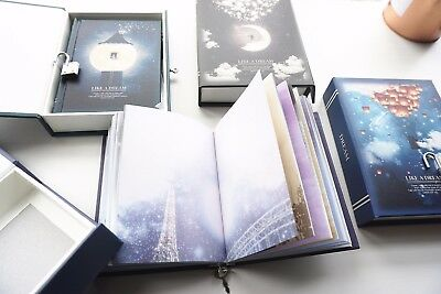 """Like a Dream"" 1pc Journal Notebook Lock Box Diary Cute Stationery Gift Package 5"