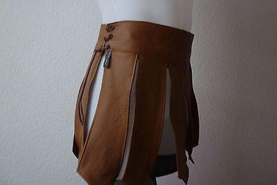 Muay Thai Echt Leder Man Kilt*gladiator Kilt*leather Kilt*gay* Braun*s 2