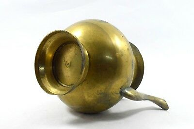 Antique Indo Islamic Beautiful Brass Water Pot / Rare Old Spout Vessel. G3-95 US 7