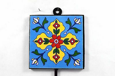 Vintage Handmade Beautiful Ceramic Tile Wall Hanging Hook Decorative. i75-51 UK 3