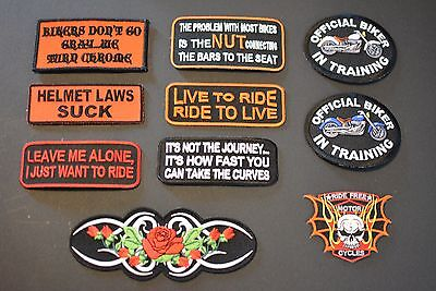 Libertarian Disc Embroidered Iron-On Patch Biker Dissent Free Thinker Porcupine