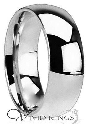 Mens & Womans Stainless Steel Wedding Band High Polish Ring Size 3.5 to 14.5 8