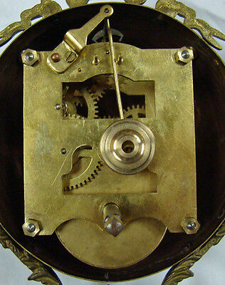 Beautiful Ansonia Cut 8 Day Movement Brass Huntress Lady Mystery Swinger Clock 11