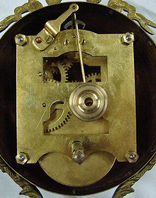 Beautiful Ansonia Cut 8 Day Movement Brass Huntress Lady Mystery Swinger Clock 11