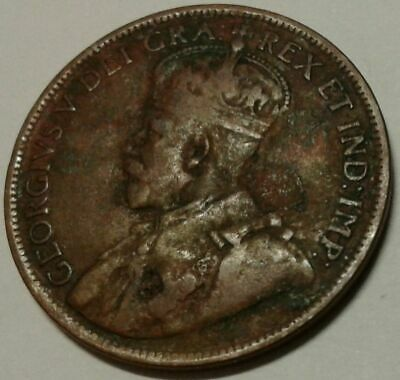 1919 CANADA ONE CENT Coin 4