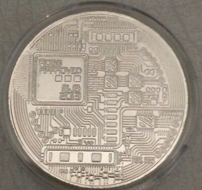 Bitcoin Rare 1 oz .999 Silver Plated Commemorative Coin Collectiable AOCS