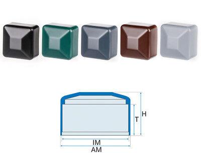 5 Stck Zaunpfahlkappe quadratisch 80x80 mm Schwarz Zaunpfostenkappen Zaunabdeckung Kunststoff