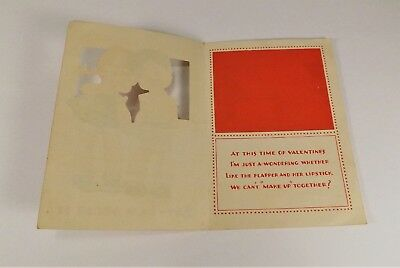 "Vintage 1940's Valentine Card Boy & Girl Holding Hands Say How About It 4"" x 3"""
