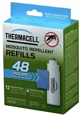 Thermacell R-4 MOSQUITO REPELLENT Refill, 48 Hour Pack-12 Matts + 4 Cartridges 3