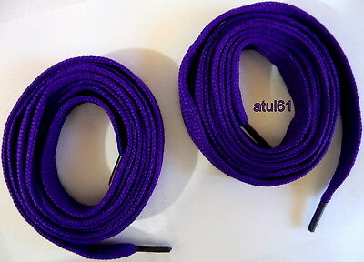 Flat Coloured Trainer Shoe Laces Skate Football Trainer gym Shoelaces NEW 10