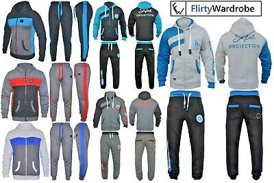 Kids Tracksuit Set Fleece Hoodie Top & Bottoms Joggers Hnl Boys Girls Sports 2
