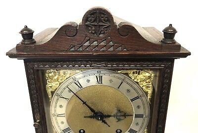 WINTERHALDER HOFFMEIER W & H Antique Oak Bracket Mantel Clock SERVICED 4