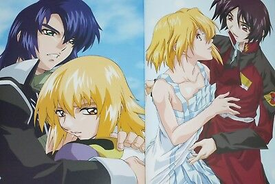 Gundam SEED perfect phase fan guide art book w//poster