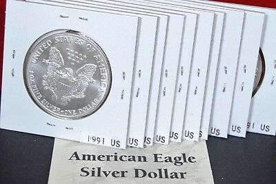 1991 1 oz Silver American Eagle BU Coin .999 fine US $1 Dollar Uncirculated Mint 6