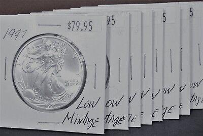 1997 Silver American Eagle BU Coin 1 oz $1 Dollar US Mint Uncirculated Brilliant 9