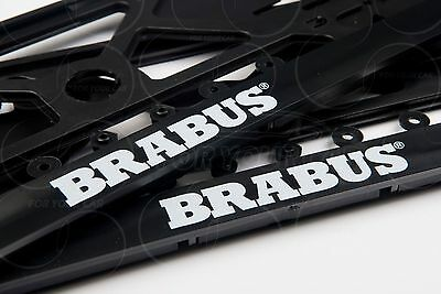 brabus mercedes benz license plate frames big logo mb e c b a s cl r gl g ml 2