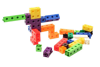 100 x 2cm Snap Cubes & Board - Counting Linking Building Maths Early Learning 9