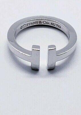 Tiffany&Co T Square Ring In 18K White Gold 11