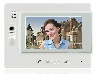 """2 Familien Video Türsprechanlage Gegensprechanlage Unterputz mit2+2 Monitore 7"""" 3"""