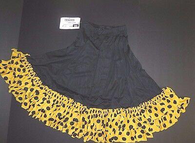 NWT Mainstreet Flamenco Drawstring Skirt dotted White Black Child sz PRAISEWEAR