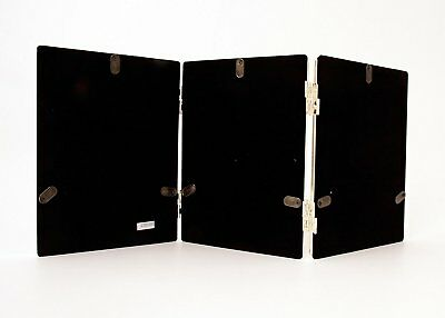 """Triple Silver Plated Metal Photo//Picture Frame 3.5x5/"""" Heavy /& Very Well Made!"""
