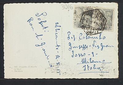 3016.-ALICANTE -El Muelle 1955 (Foto) 2