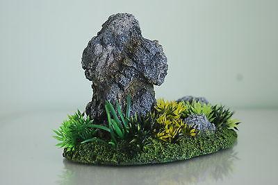 Aquarium Detailed Realistic Rock Garden Ornament & Plants 19 x 11 x 13 cms 3