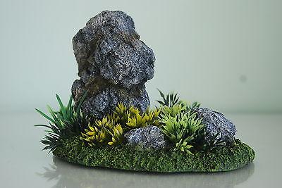 Aquarium Detailed Realistic Rock Garden Ornament & Plants 19 x 11 x 13 cms 2