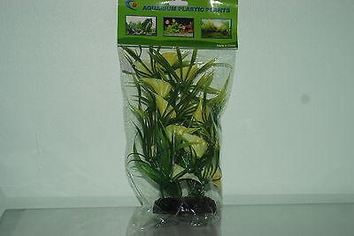 Aquarium Plastic Lotus Style Bunch Plant 12 inch High Suitable for all Aquariums 4