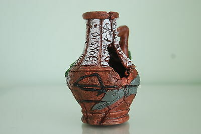 Vivarium or Aquarium Broken Sucken Vase Pot Decoration 11 x 11 x 12 cms 3