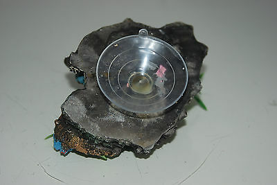 Aquarium Reef Rock + Suckers With Sunken Wheel 10 x 8 x 15 cms 5