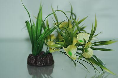 Aquarium Plastic Lotus Style Bunch Plant 12 inch High Suitable for all Aquariums 2