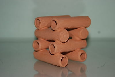 Aquarium Ceramic Breeder Stacked Tubes 8 x 8 x 8 cms For Loaches and Small Fish 3