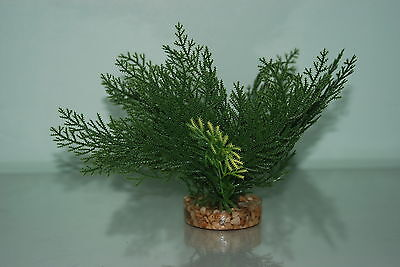 Aquarium Plants Green Plant 15 cms Fern Style With Gravel Weighted Base 2