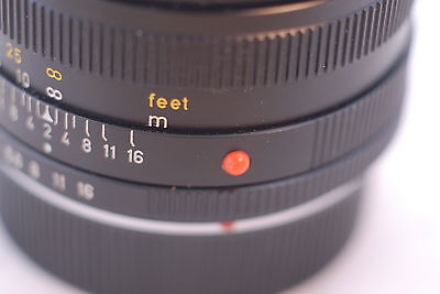 Two Plastic Red Dot Marks for Leica Lenses Summicron R, Summicron M
