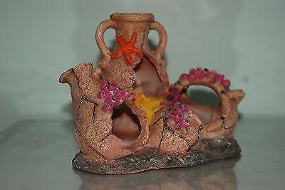 Aquarium Medium Rustic Collection of Pots 19.5 x 13 x 16 cms For All Aquariums 4